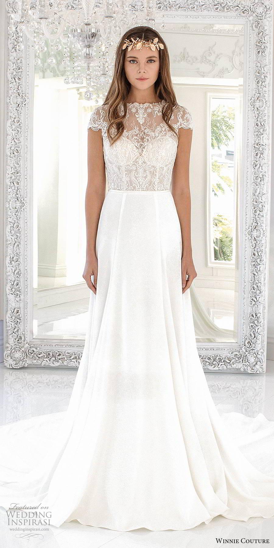 winnie couture 2019 bridal illusion cap sleeves sheer jewel neckline sweetheart trumpet modified a line wedding dress chapel train (11) mv