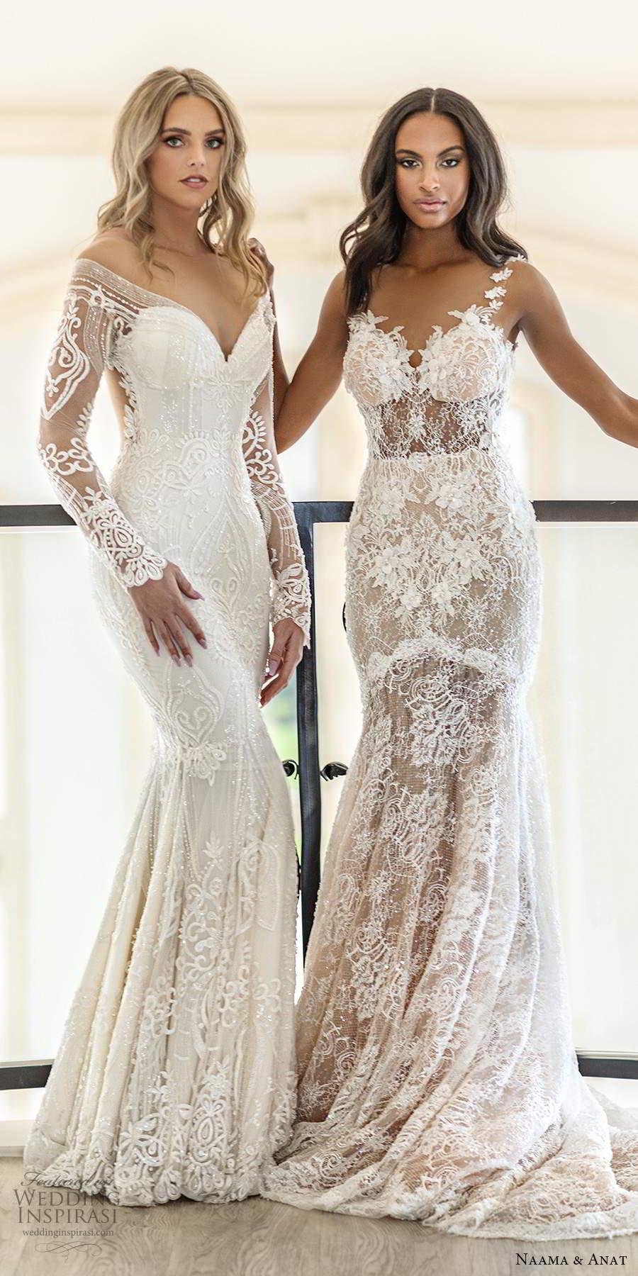 naama anat spring 2020 knottinghill bridal elegant romantic glitzy fully embellished lace wedding gowns sexy back chapel train (4) mv