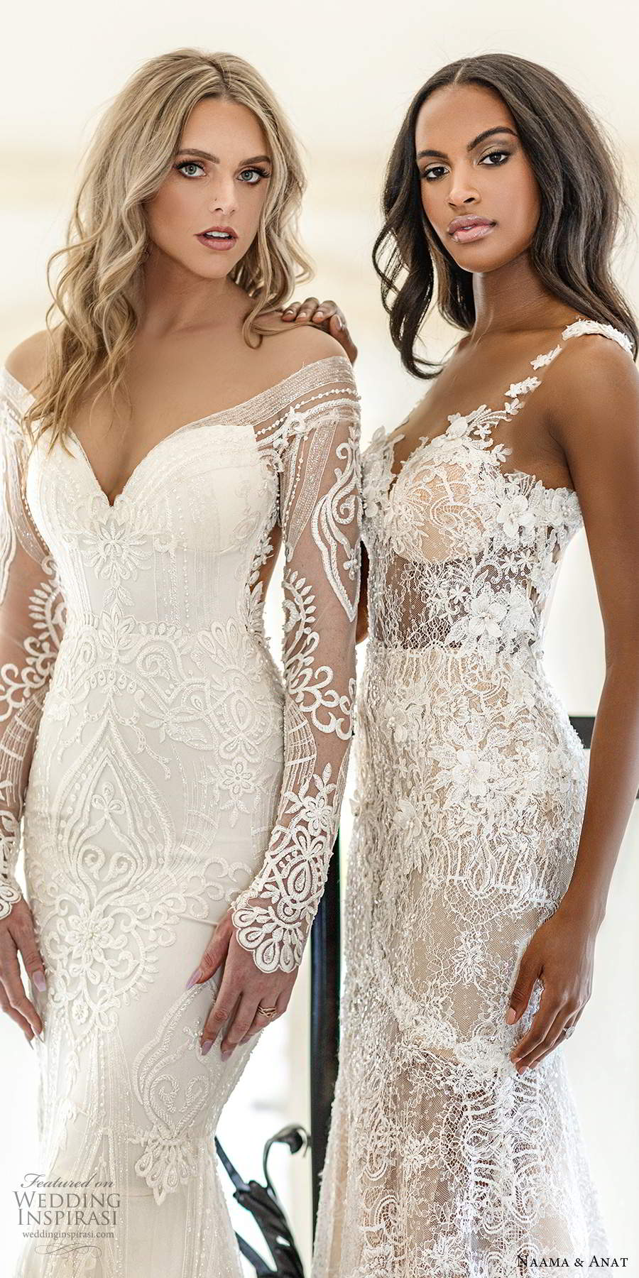 naama anat spring 2020 knottinghill bridal elegant romantic glitzy fully embellished lace wedding gowns sexy back chapel train (4) zv