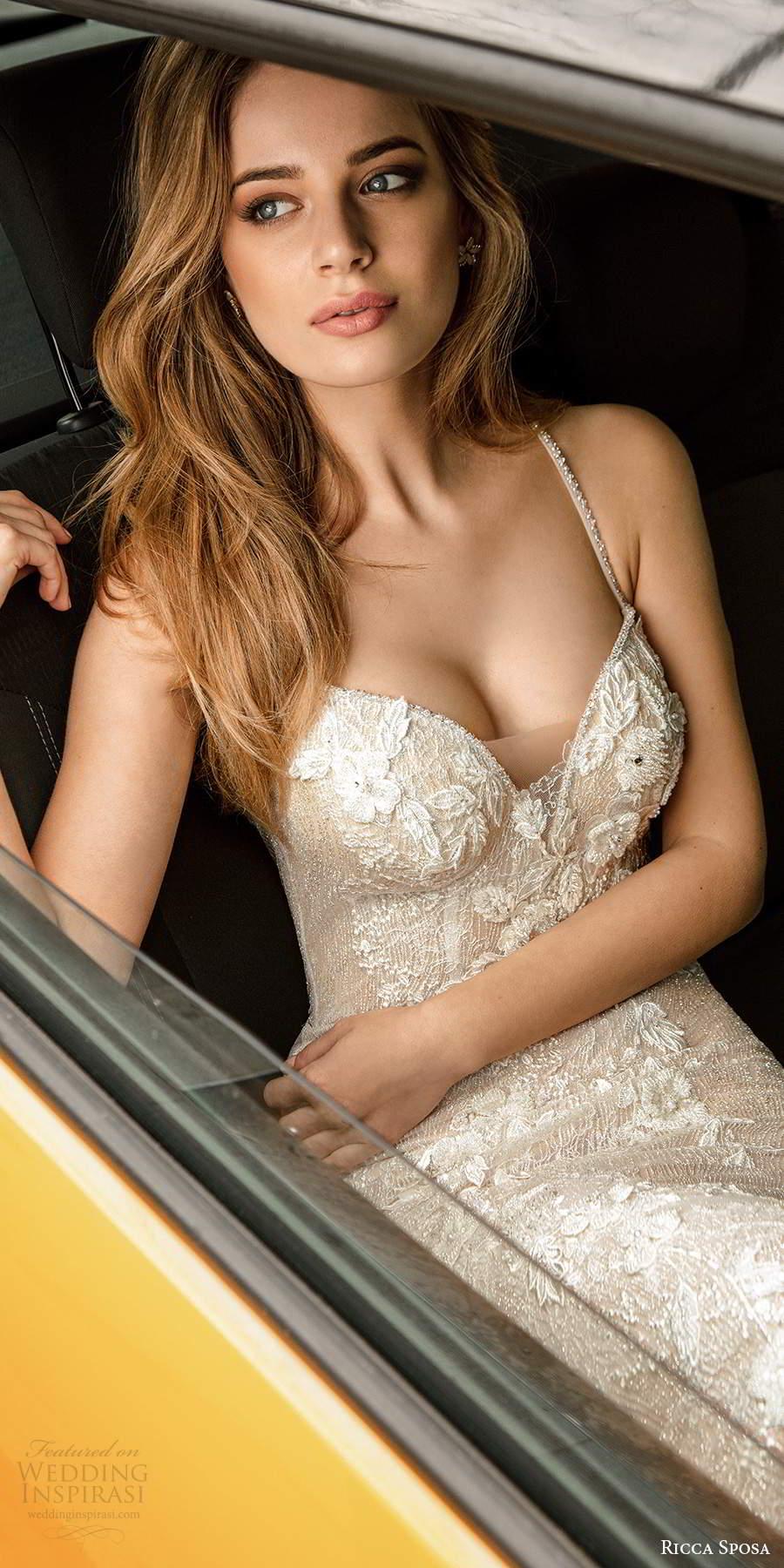 ricca sposa 2020 barcelona bridal sleeveless thin beaded straps sweetheart neckline fully embellished sheath wedding dress (23) mv