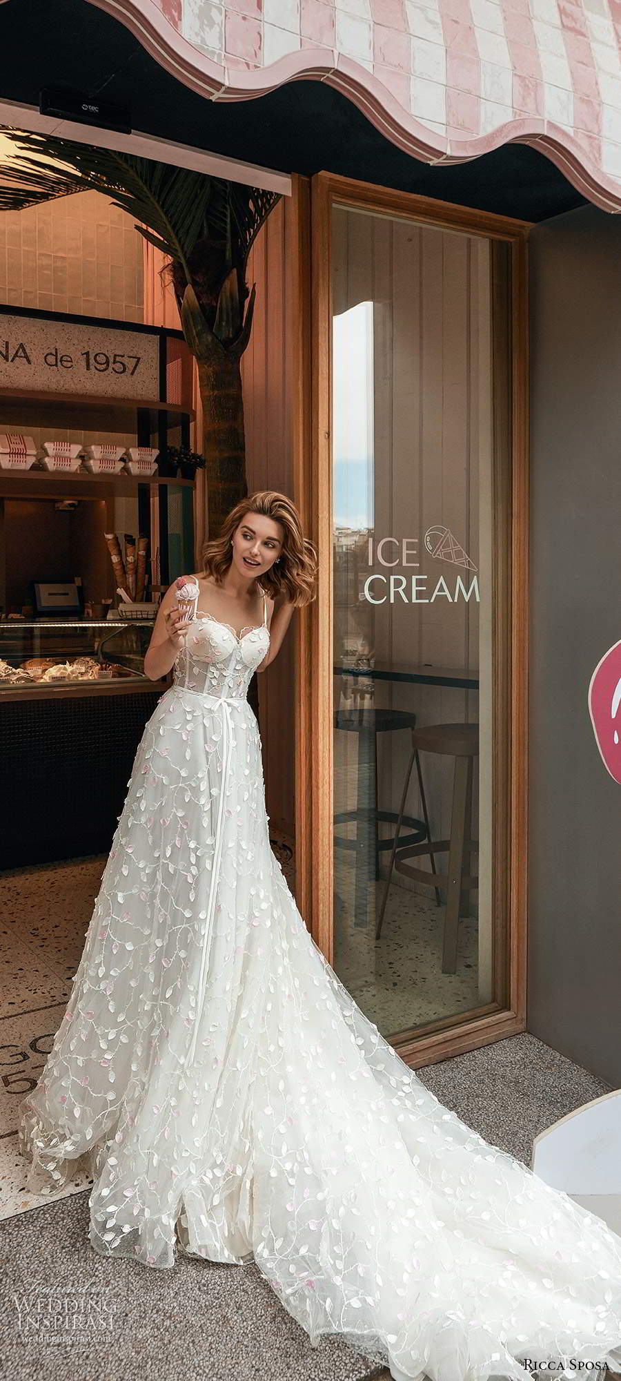 ricca sposa 2020 barcelona bridal sleeveless thin straps sweetheart neckline sheer bodice fully embellished romantic a line ball gown wedding dress cathedral train (8) mv