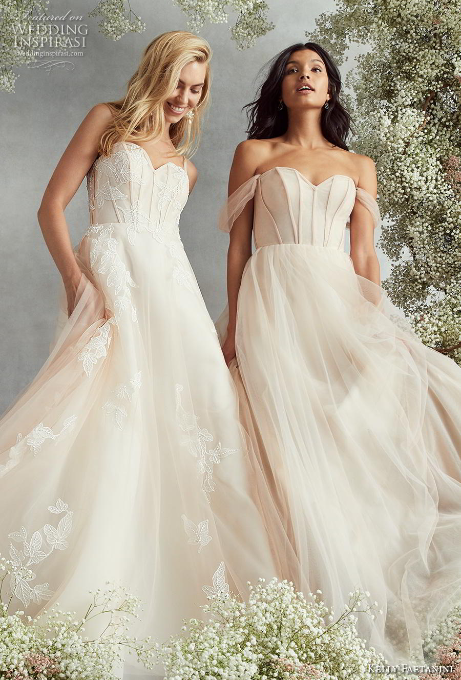 kelly faetanini fall 2020 bridal romantic a  line wedding gowns
