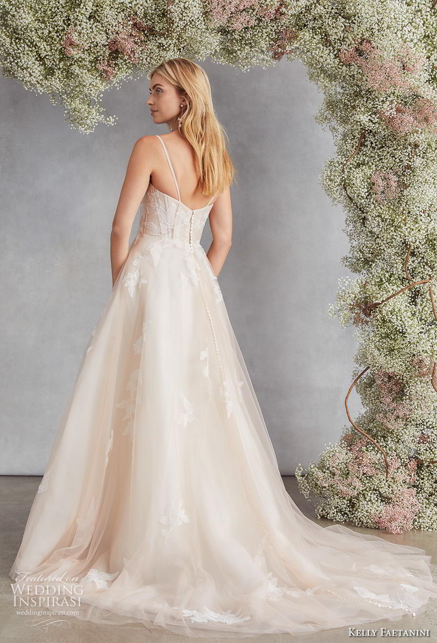 kelly faetanini fall 2020 bridal sleeveless spaghetti strap sweetheart neckline light embellishment romantic a  line wedding dress mid back medium train (1) bv