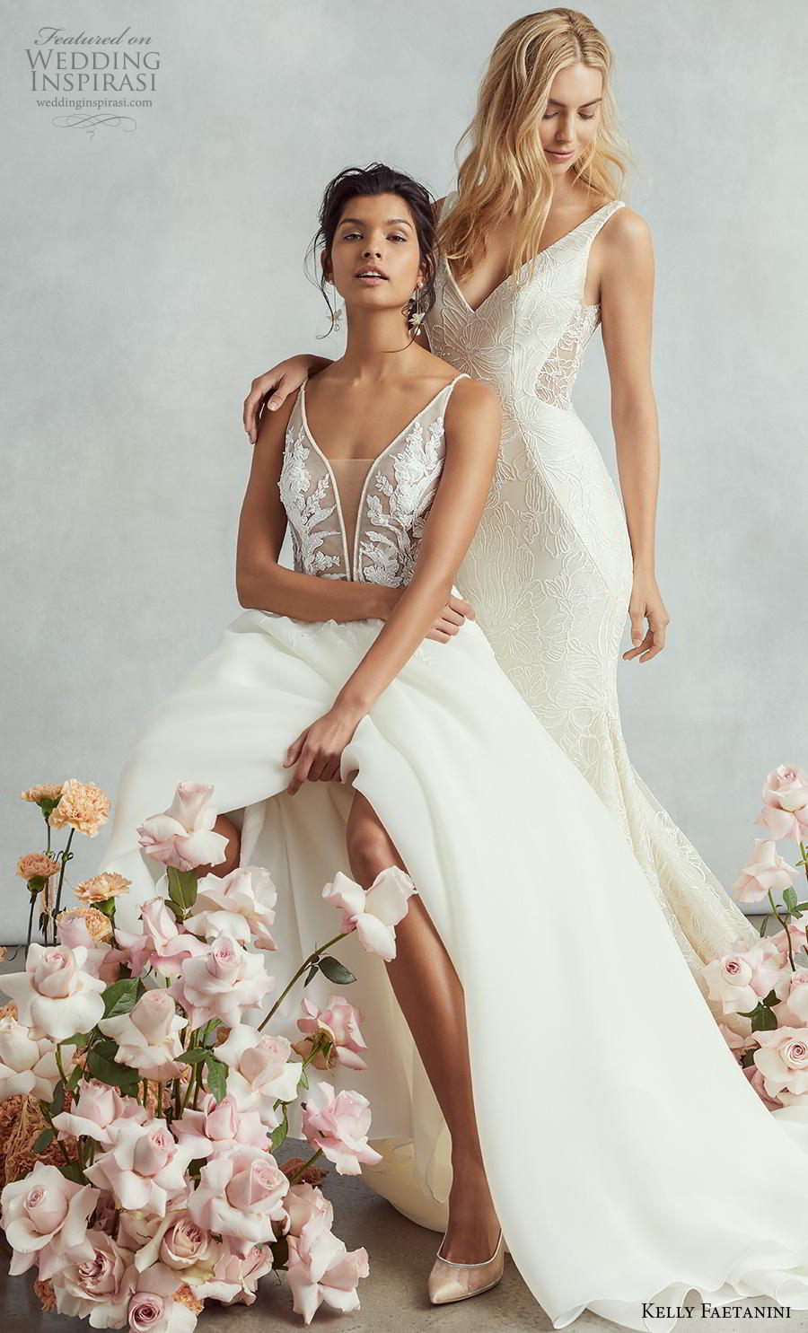 kelly faetanini fall 2020 bridal sleeveless v neck beautiful wedding gowns