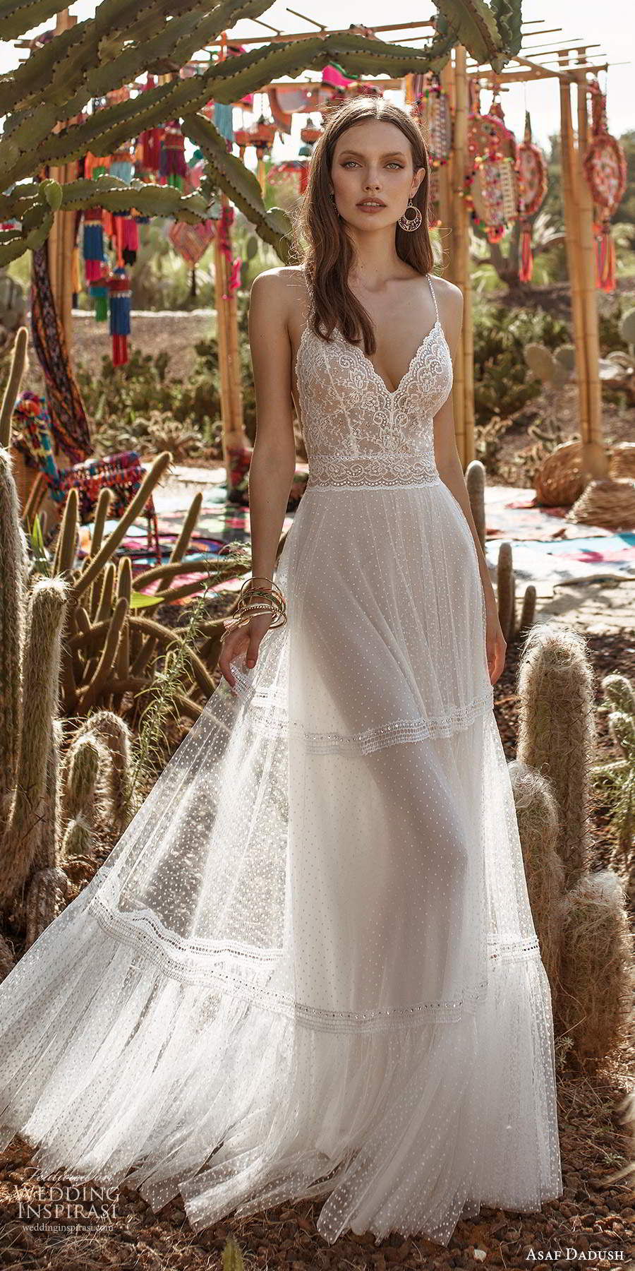 asaf dadush 2020 bridal sleeveless thin beaded straps sweetheart neckline fully embellished a line wedding dress low back (6) mv