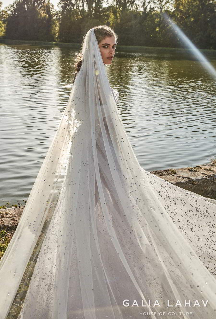 galia lahav fall 2020 bridal off the shoulder sweetheart neckline full embellishment bustier glamorous elegant a  line wedding dress mid back chapel train (aretha) zbv