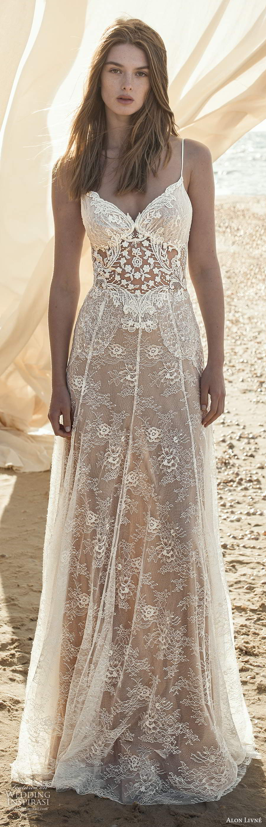 alon livne fall 2020 bridal sleeveless thin straps sweetheart neckline sheer bodice embellished lace a line wedding dress (5) lv