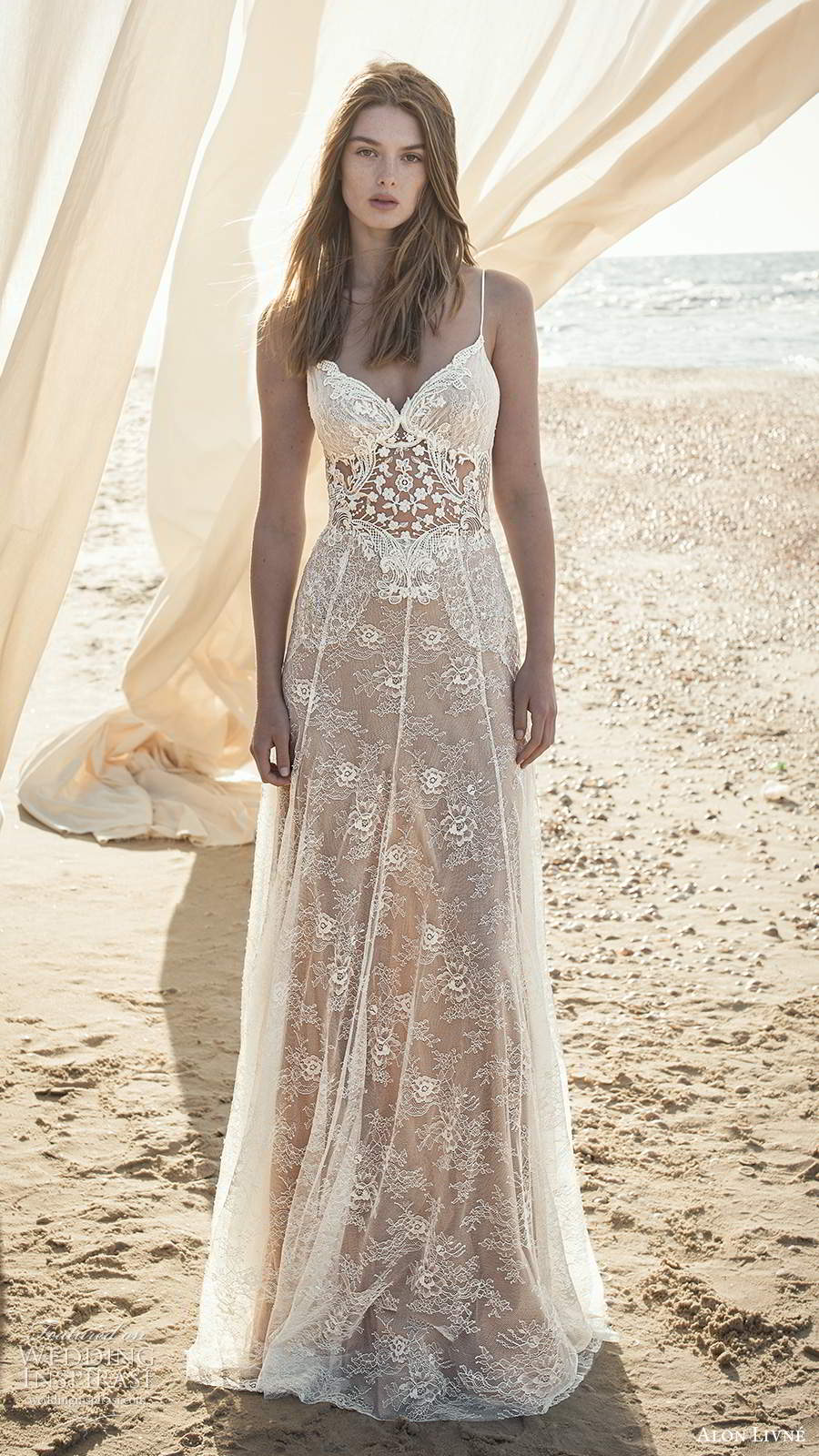 alon livne fall 2020 bridal sleeveless thin straps sweetheart neckline sheer bodice embellished lace a line wedding dress (5) mv