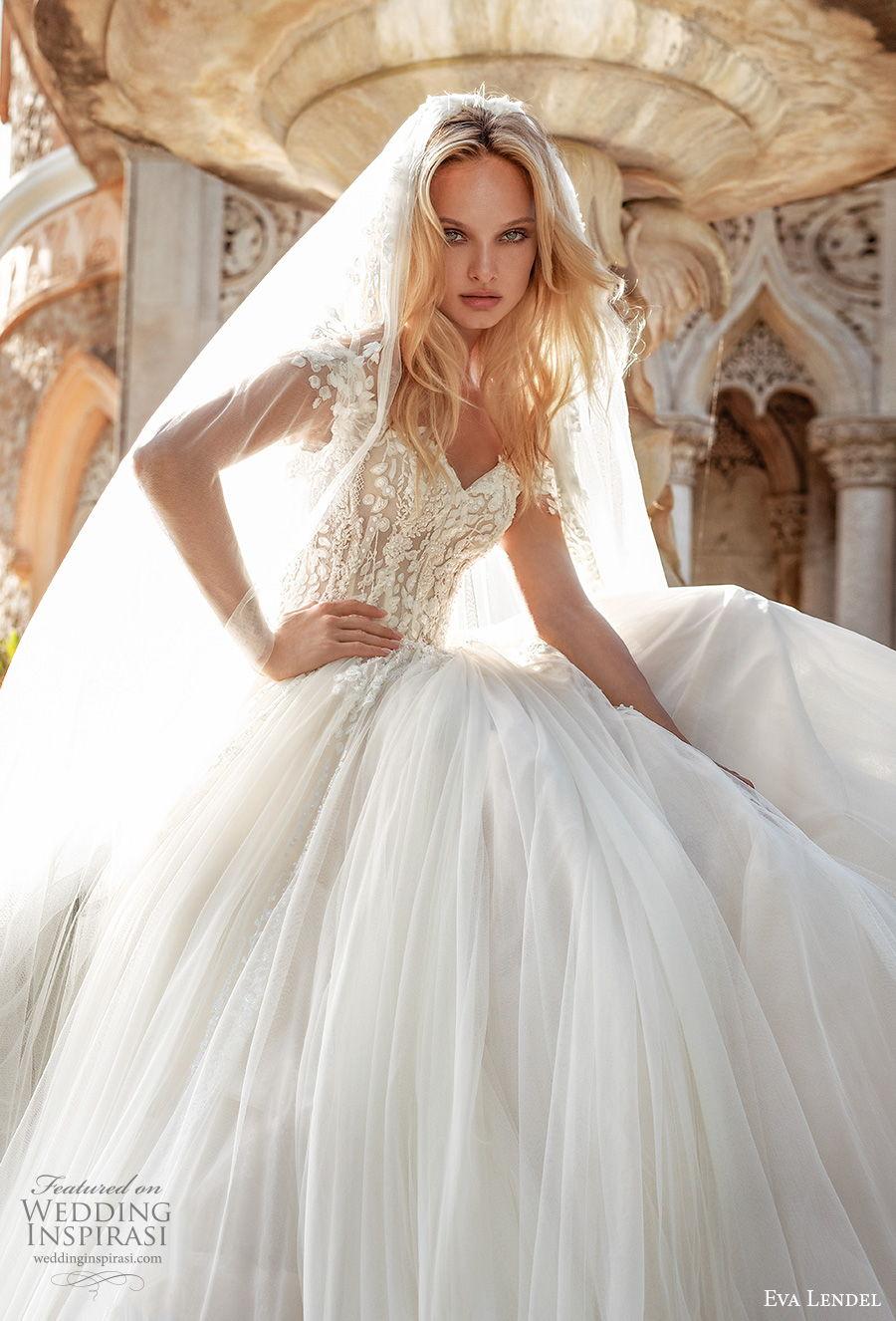 eva lendel 2020 lisbon vibes bridal off the shoulder sweetheart neckline heavily embellished bodice romantic a  line wedding dress covered back royal train (10) zv mv