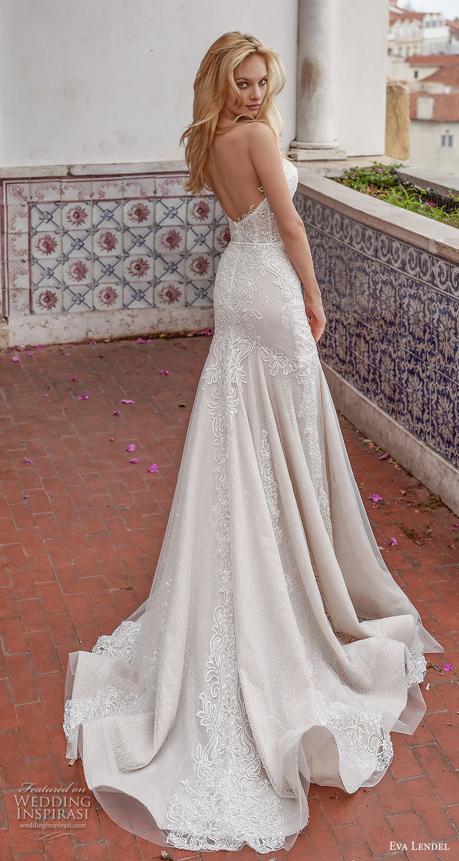 eva lendel 2020 lisbon vibes bridal strapless sweetheart neckline full embellishment drop waist romantic a  line wedding dress backless chapel train (8) bv