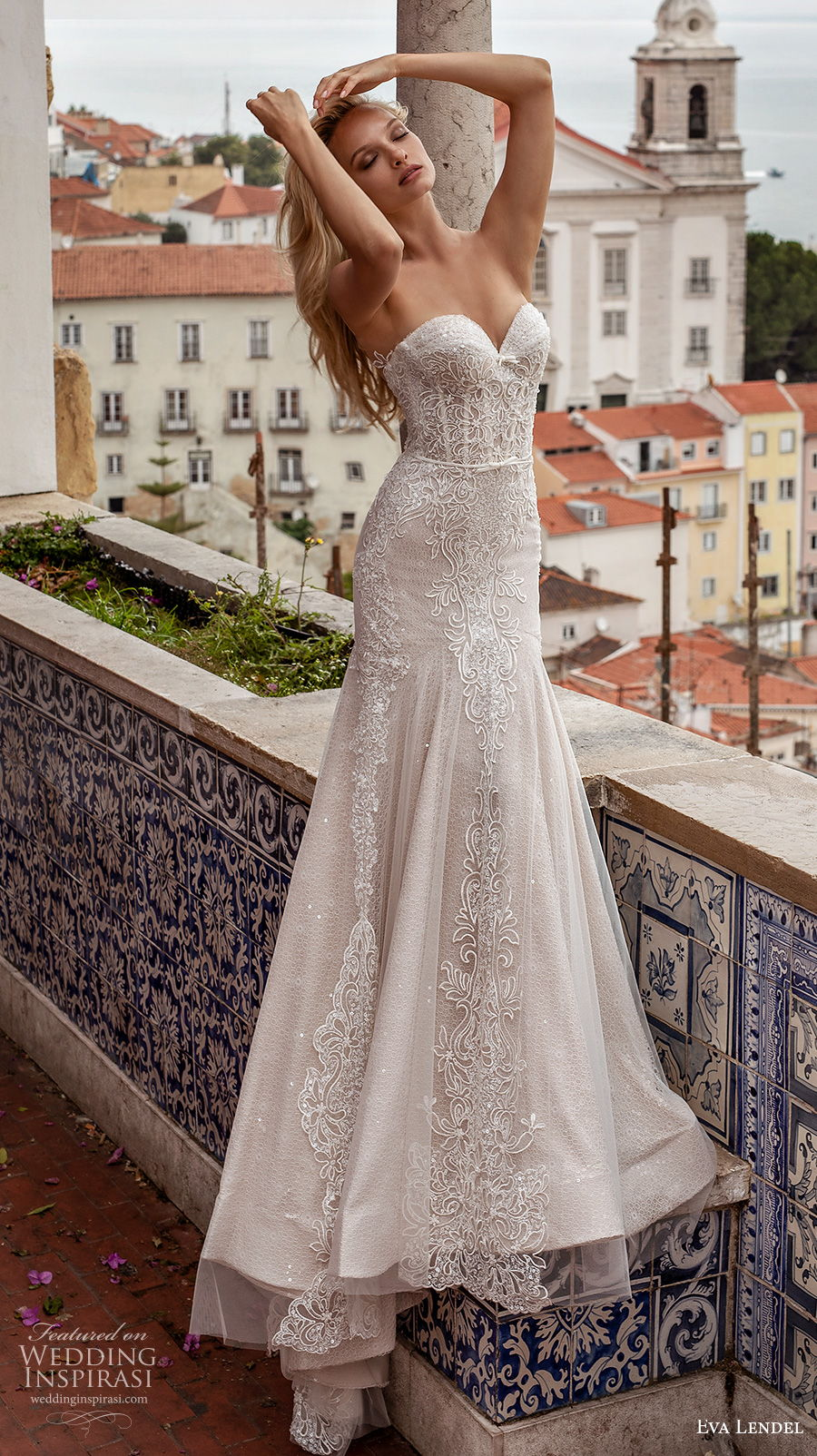 eva lendel 2020 lisbon vibes bridal strapless sweetheart neckline full embellishment drop waist romantic a  line wedding dress backless chapel train (8) mv