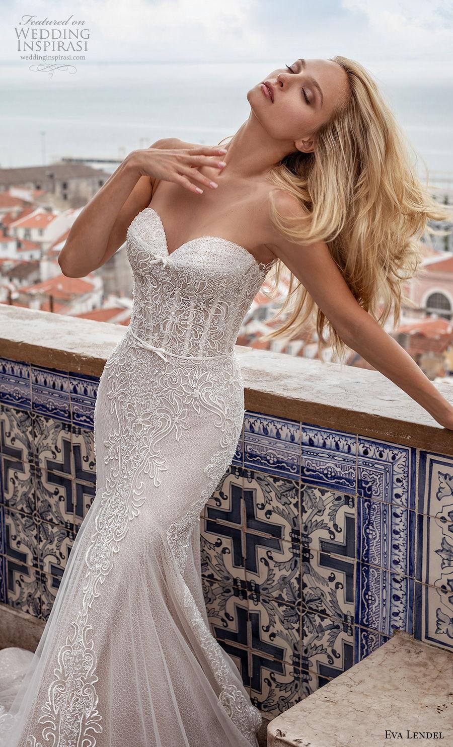 eva lendel 2020 lisbon vibes bridal strapless sweetheart neckline full embellishment drop waist romantic a  line wedding dress backless chapel train (8) zv