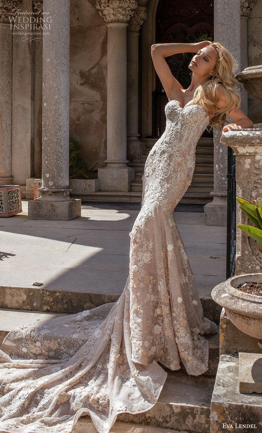 eva lendel 2020 lisbon vibes bridal strapless sweetheart neckline full embellishment elegant fit and flare wedding dress mid back chapel train (9) mv