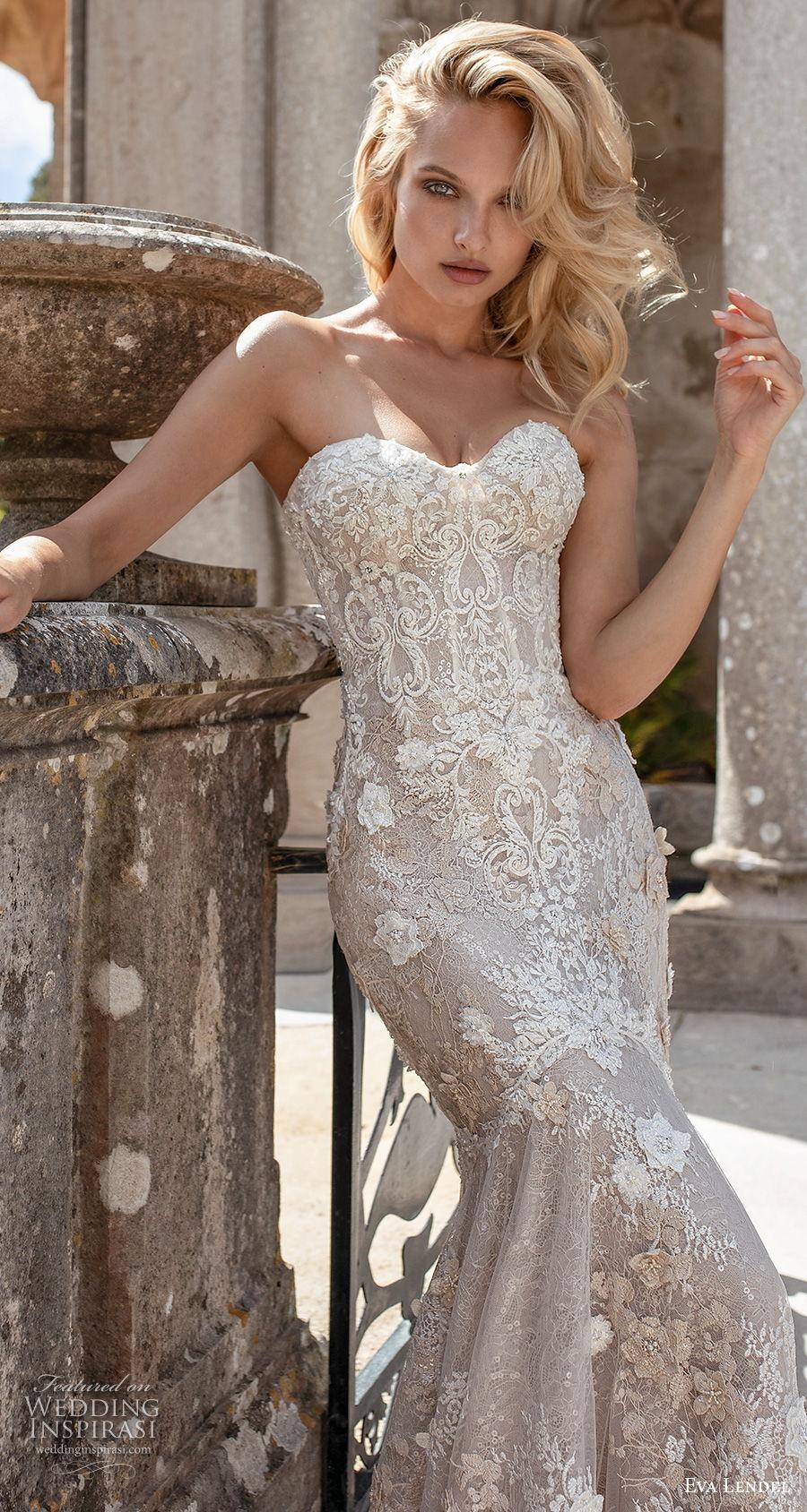 eva lendel 2020 lisbon vibes bridal strapless sweetheart neckline full embellishment elegant fit and flare wedding dress mid back chapel train (9) zv