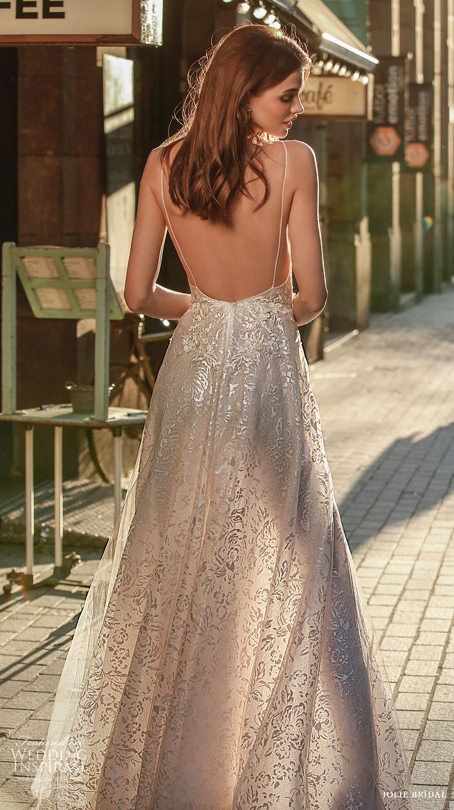 jolie spring 2021 bridal sleeveless with strap deep v neck full embellishment sexy romantic a  line dress backless sweep train (10) bv
