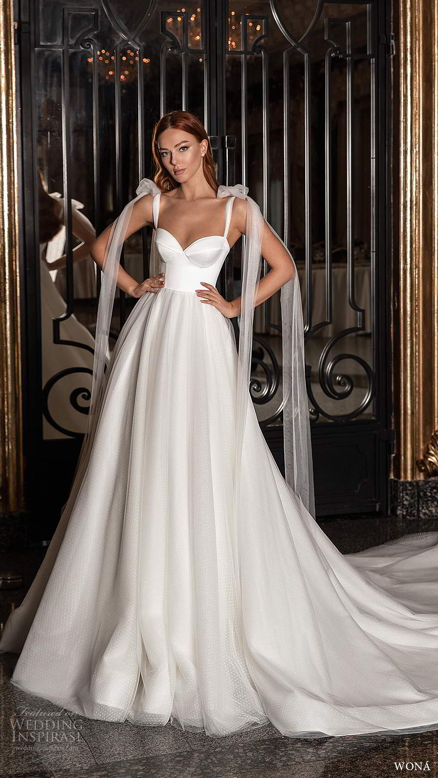 wona 2020 edem bridal sleeveless tie straps sweetheart neckline clean minimalist a line ball gown wedding dress chapel train (8) mv