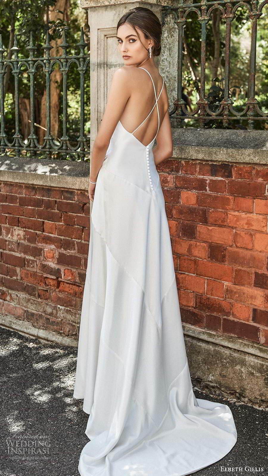 elbeth gillis 2021 bridal sleeveless straps v neckline clean minimalist a line trumpet wedding dress sweep train (2) bv
