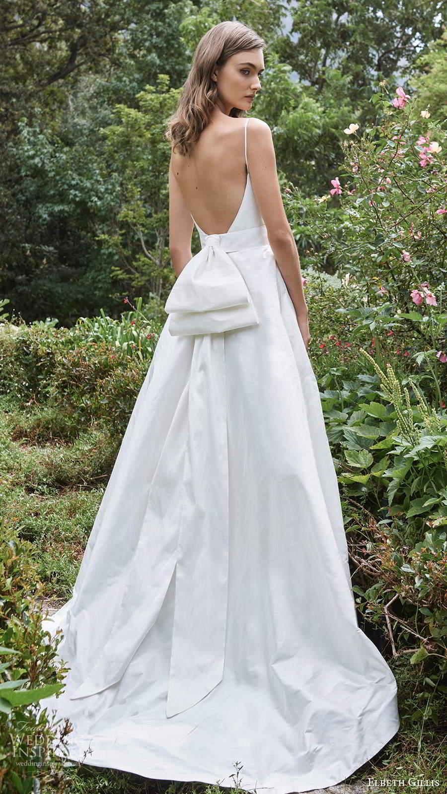 elbeth gillis 2021 bridal sleeveless straps v neckline embellished bodice a line ball gown wedding dress chapel train (12) bv