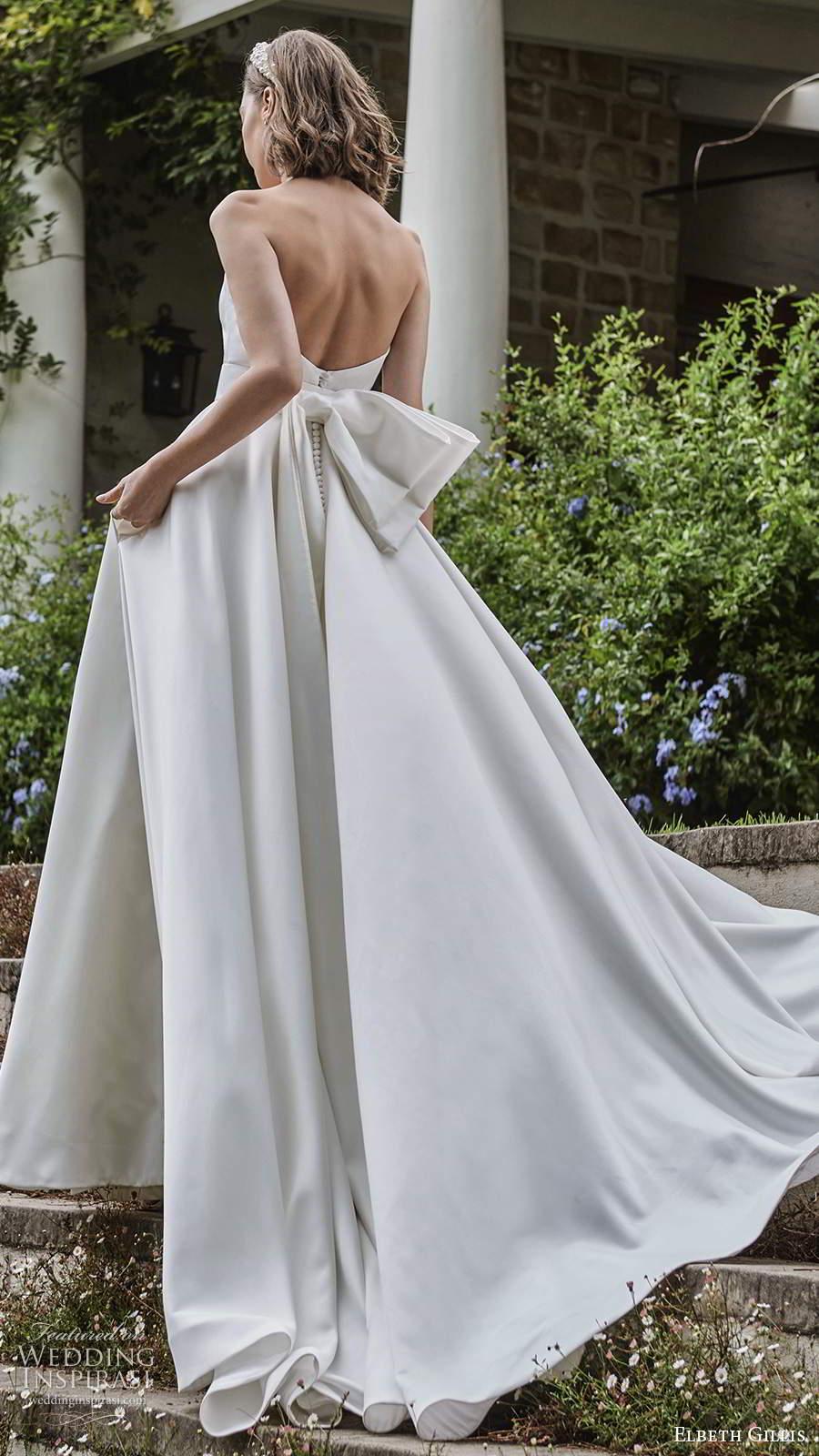 elbeth gillis 2021 bridal strapless plunging sweetheart neckline clean minimalist a line ball gown wedding dress chapel train (7) bv