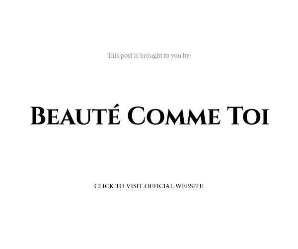 beaute comme toi 2020 bridal official website banner below