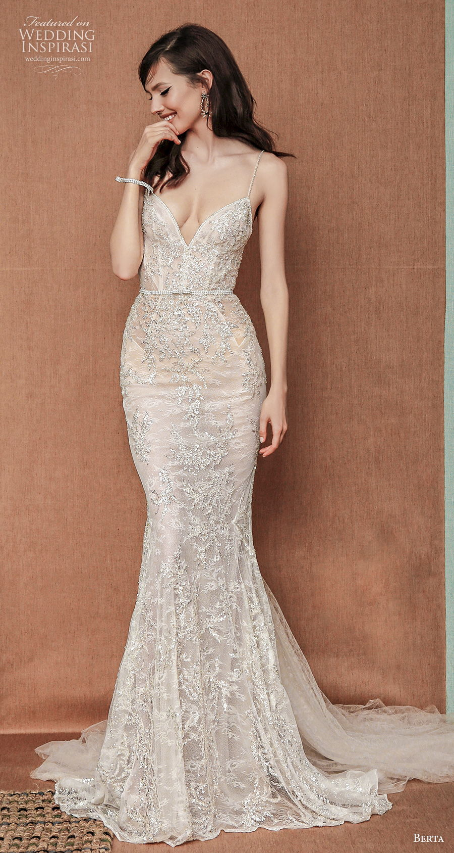berta spring 2021 privee bridal sleeveless spaghetti strap diamond neck full embellishment glamorous sexy fit and flare wedding dress backless chapel train (9) mv
