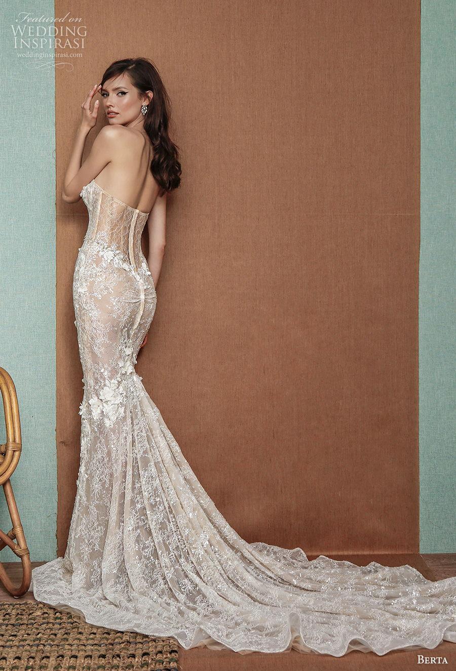 berta spring 2021 privee bridal strapless sweetheart neckline full embellishment bustier glamorous mermaid wedding dress mid back chapel train (11) bv