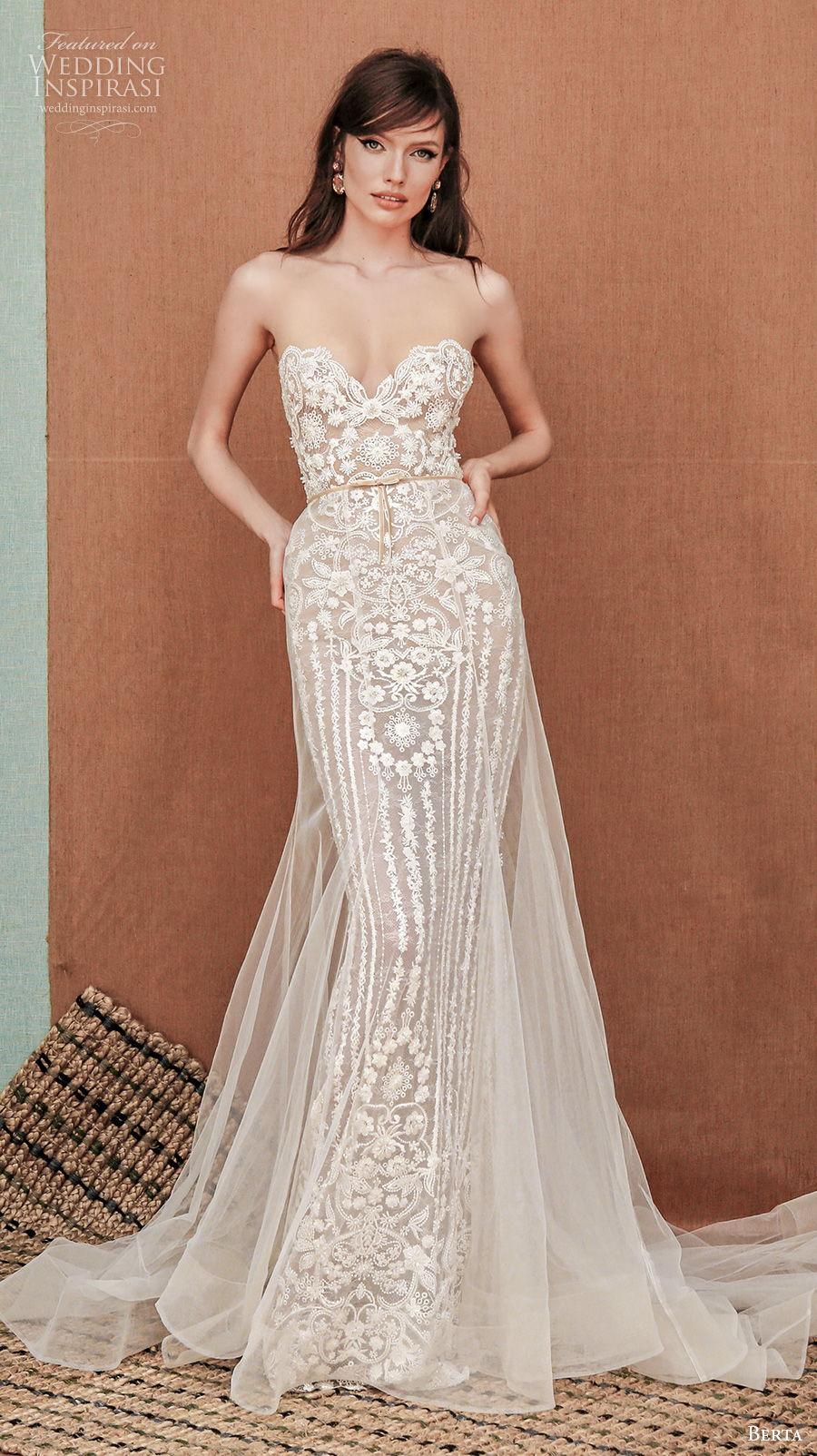 berta spring 2021 privee bridal strapless sweetheart neckline full embellishment romantic fit and flare sheath wedding dress backless chapel train (4) mv
