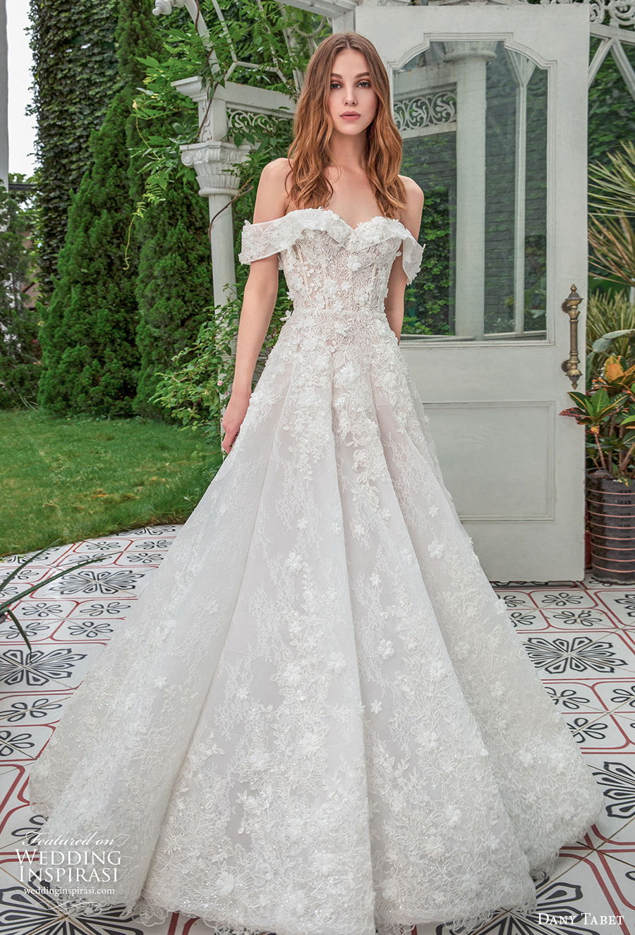 dany tabet 2021 emerge bridal off the shoulder sweetheart neckline full embellishment romantic a  line wedding dress mid back sweep train (12) mv