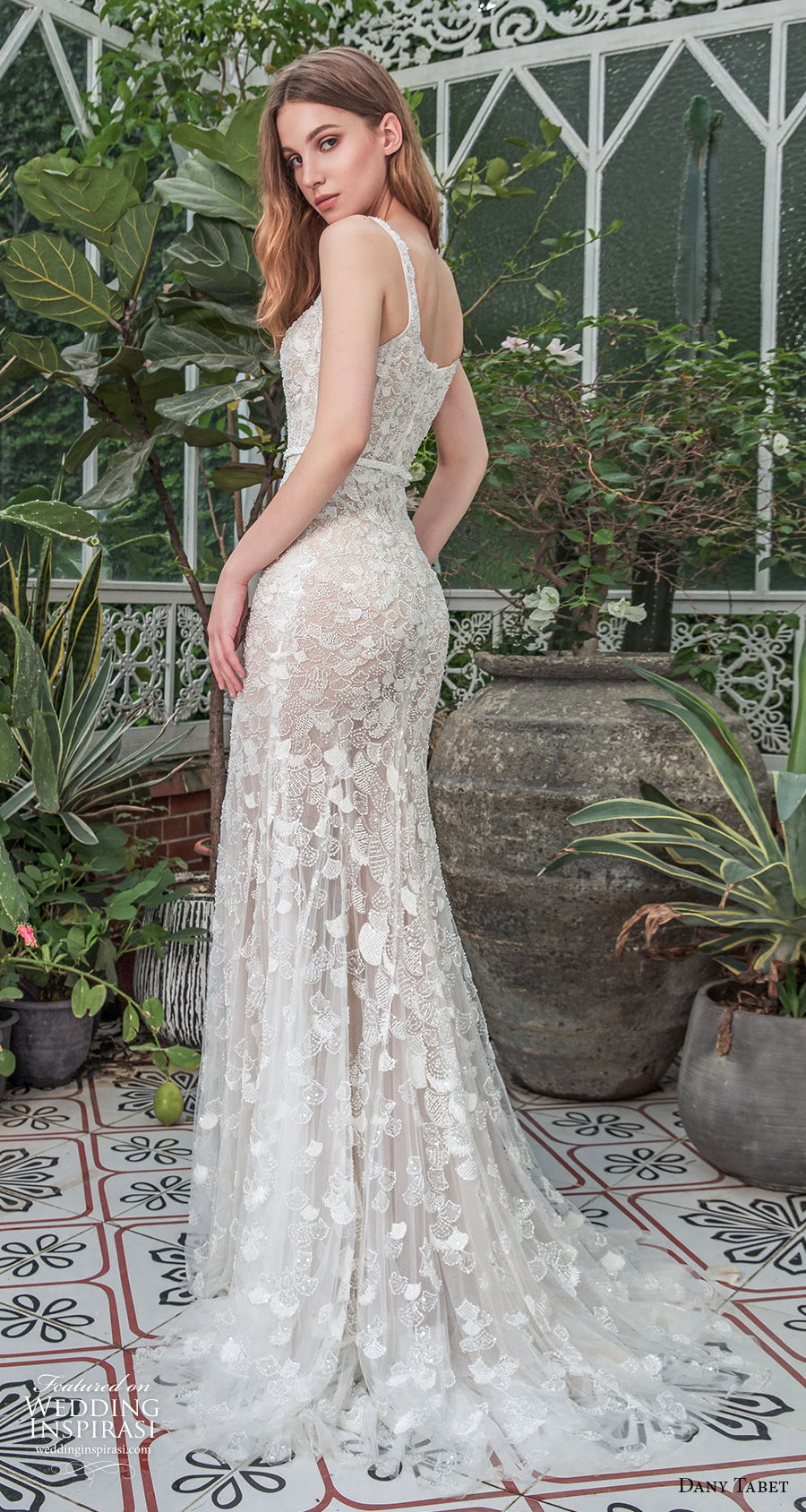dany tabet 2021 emerge bridal sleeveless square neckline full embellishment romantic fit and flare wedding dress a  line overskirt mid back chapel train (13) bv