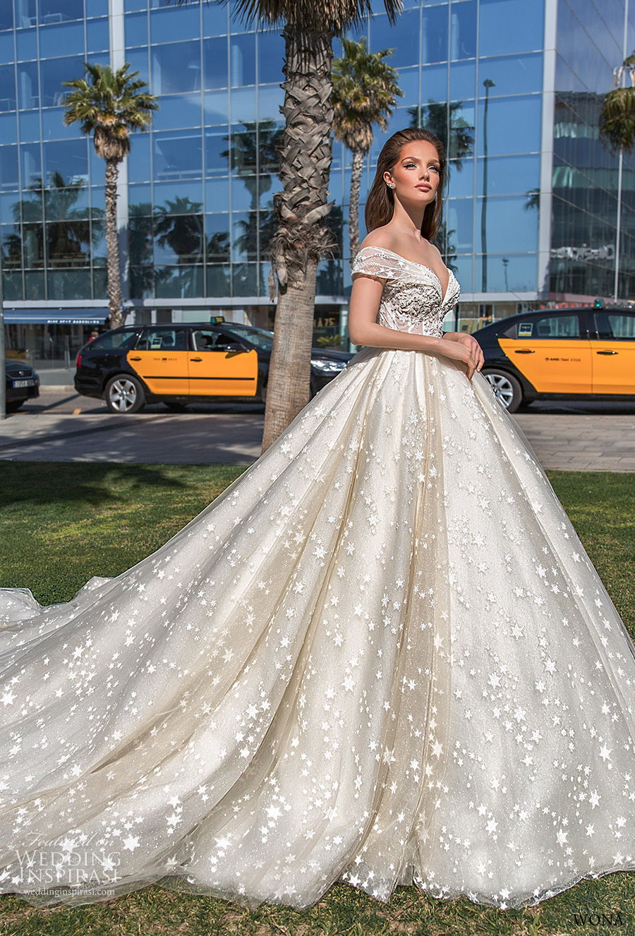 wona 2020 diva bridal off the shoulder sweetheart neckline full embellishment princess ball gown a  lne wedding dress mid back chapel train (4) mv