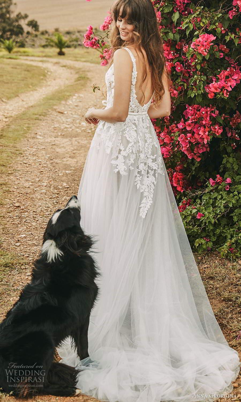 anna georgina 2021 bridal romance sleeveless v neckline embellished lace bodice a line ball gown wedding dress chapel train (15) bv