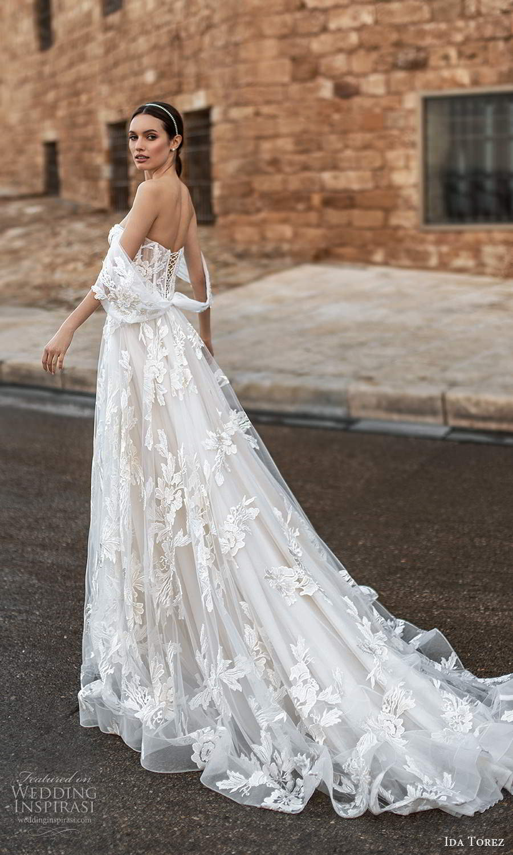 ida torez 2021 bridal off shoulder straps sweetheart neckline fully embellished lace a line ball gown wedding dress chapel train (11) bv