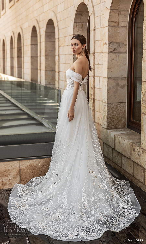 ida torez 2021 bridal sheer bishops sleeves off shoulder sweetheart neckline embellished a line ball gown wedding dress chapel train (6) bv