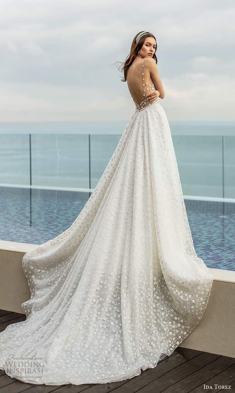 ida torez 2021 bridal sleeveless beaded straps plunging v neckline fully embellished a line ball gown wedding dress chapel train (3) bv