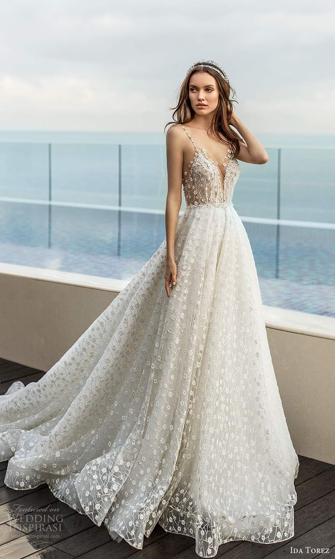 ida torez 2021 bridal sleeveless beaded straps plunging v neckline fully embellished a line ball gown wedding dress chapel train (3) mv