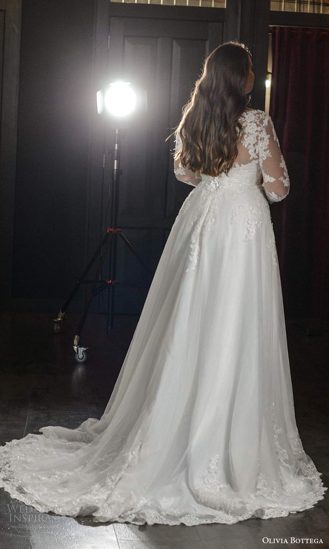 olivia bottega 2021 bridal plus illusion long sleeves sheer bateau neckline sweetheart heavily embellished bodice a line ball gown wedding dress chapel train (9) bv