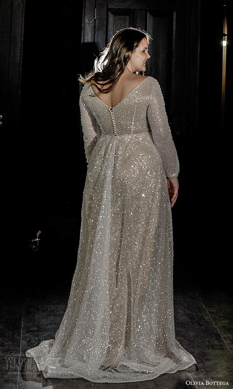olivia bottega 2021 bridal plus long sleeves v neckline fully embellished a line ball gown wedding dress chapel train (8) bv