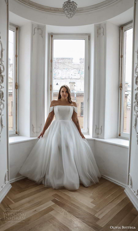 olivia bottega 2021 bridal plus off shoulder straps straight across neckline a line ball gown wedding dress (7) mv