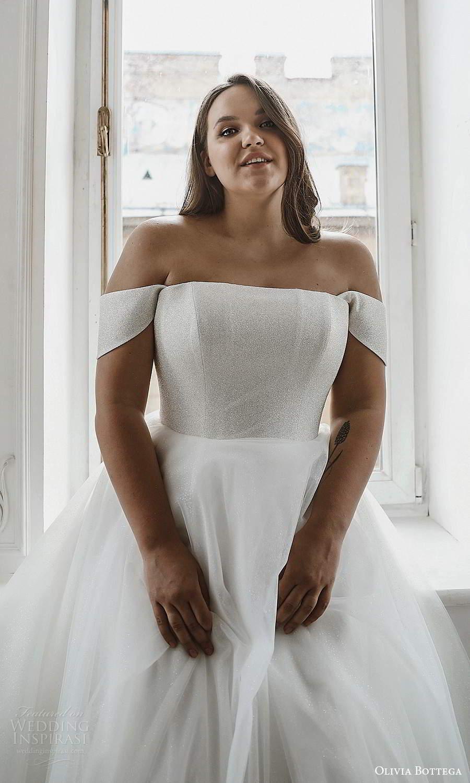 olivia bottega 2021 bridal plus off shoulder straps straight across neckline a line ball gown wedding dress (7) zv