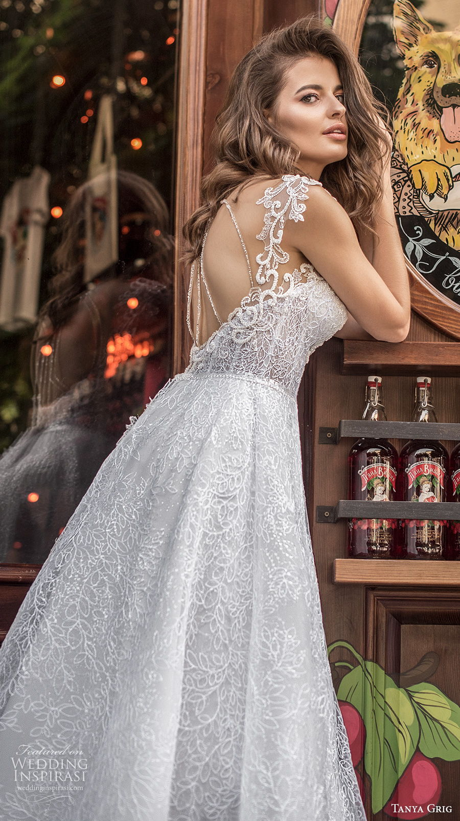 tanya grig 2021 bridal cap sleeves sweetheart neckline full embellishment romantic a  line wedding dress keyhole back chapel train (12) zbv