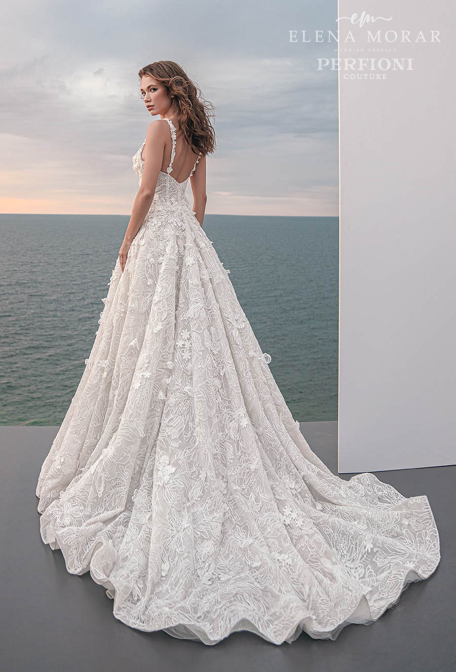 elena morar perfioni 2021 bridal romantic a line wedding gown 5