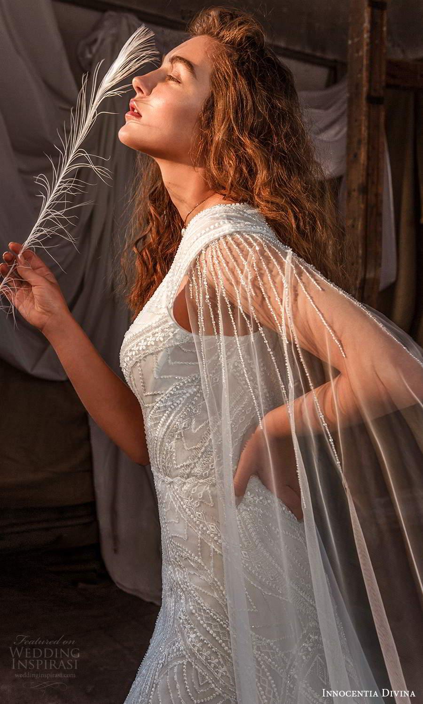 innocentia divina 2021 bridal off shoulder straps plunging v neckline fully embellished a line ball gown wedding dress keyhole back (15) zsv