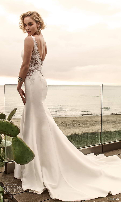 jillian sposa 2021 bridal sheer cap sleeves sweetheart neckline illusion v back fit flare mermaid wedding dress chapel train (12) bv