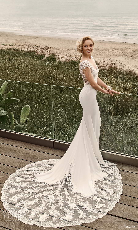 jillian sposa 2021 bridal sheer cap sleeves sweetheart neckline illusion v back sheath wedding dress chapel train (11) bv