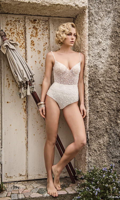 jillian sposa 2021 bridal sleeveless straps sweetheart neckline fully embellished bodysuit wedding dress (14) mv