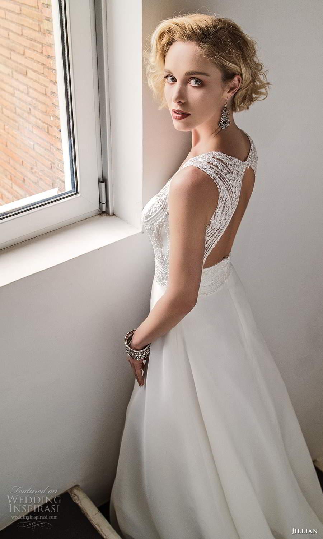 jillian sposa 2021 bridal sleeveless thick straps sweetheart v neckline heavily embellished bodice a line wedding dress keyhole back (20) bv