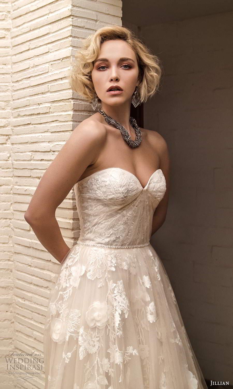 jillian sposa 2021 bridal strapless sweetheart neckline fully embellished lace ball gown wedding dress (19) mv