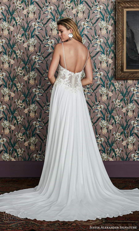 justin alexander spring 2021 bridal sleeveless thin straps sweetheart neckline embellishedbodice clean skirt a line wedding dress (13) bv
