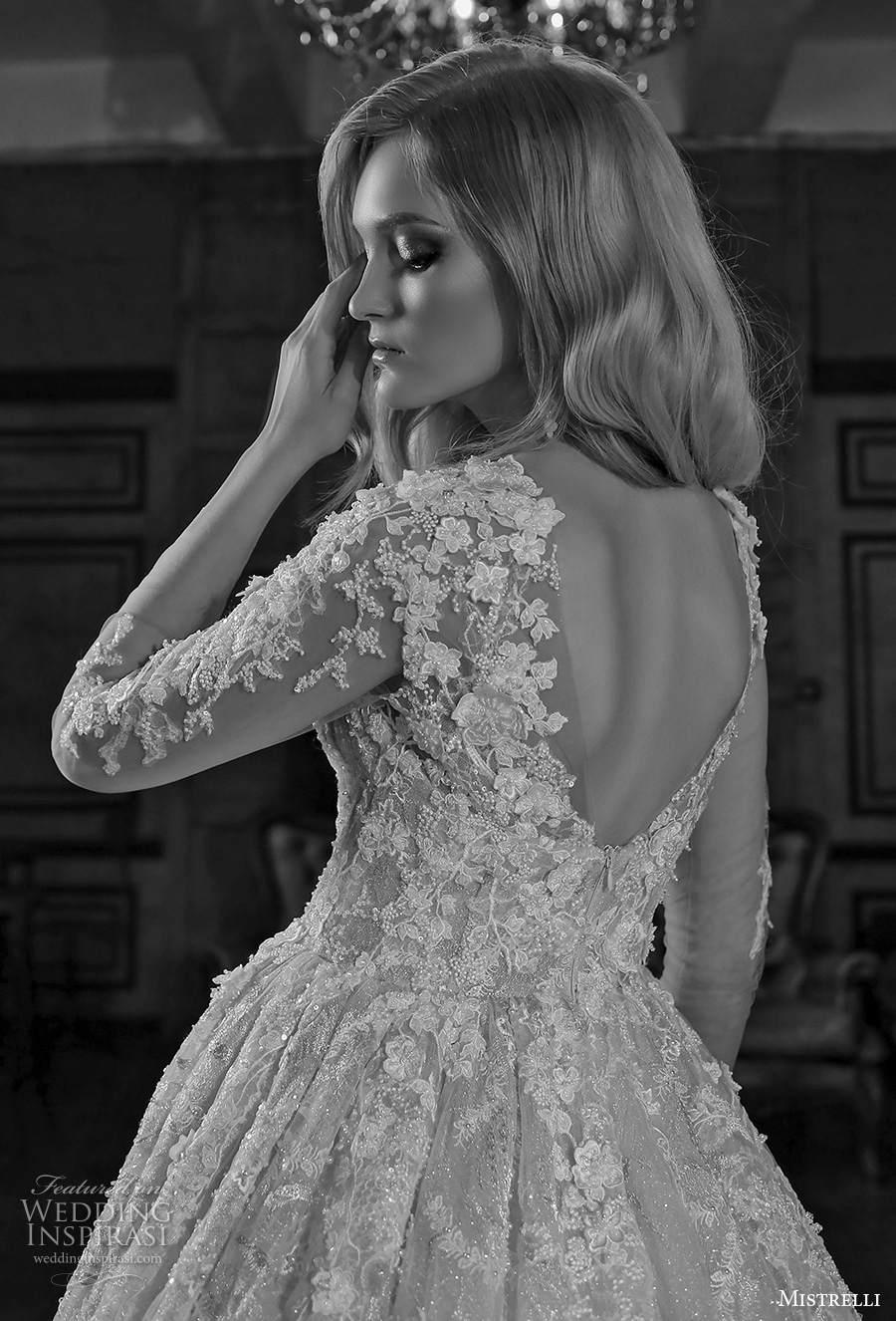mistrelli 2021 royal drama bridal long sleeves sweetheart neckline full embellishment princess a  line wedding dress v back chapel train (1) zbv