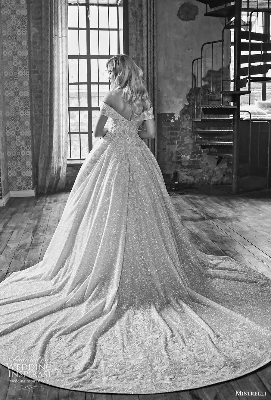 mistrelli 2021 royal drama bridal off the shoulder v neck full embellishment princess ball gown a  line wedding dress v back chapel train (13) bv